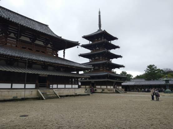 世界文化遗产——法隆寺五重塔(奈良)